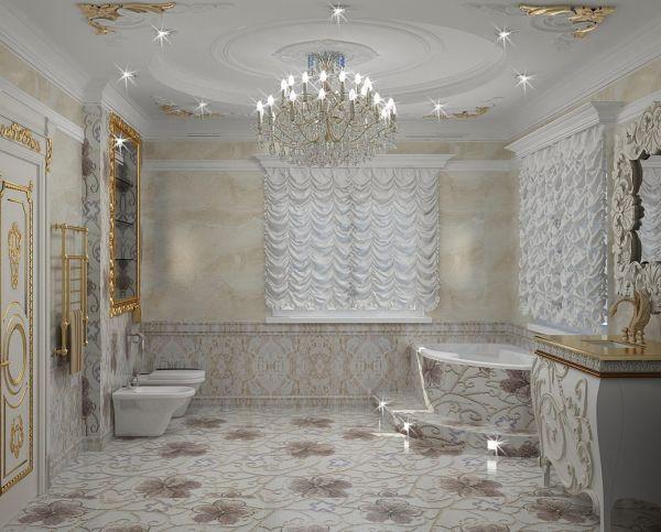 Интерьер ванной комнаты Брызги лета