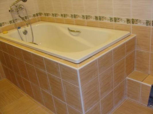 кладка кафеля в ванной