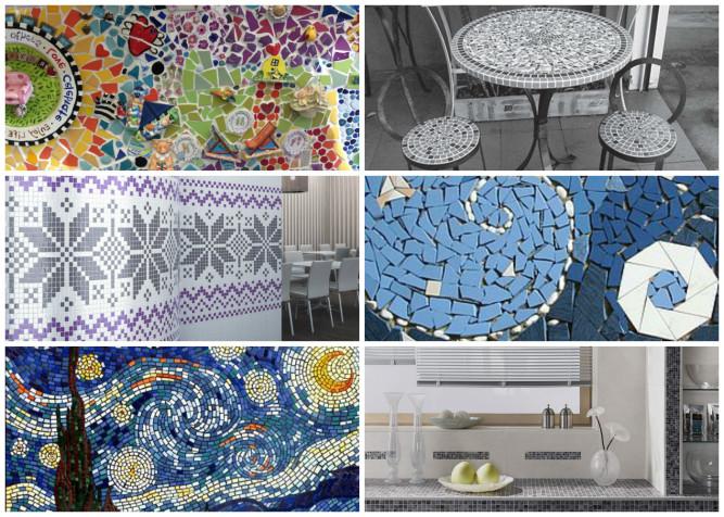 Варианты выкладки мозаики