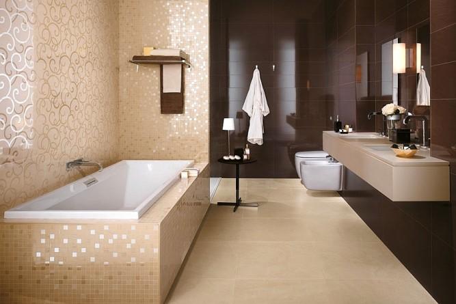 Ванна, облицованная плиткой