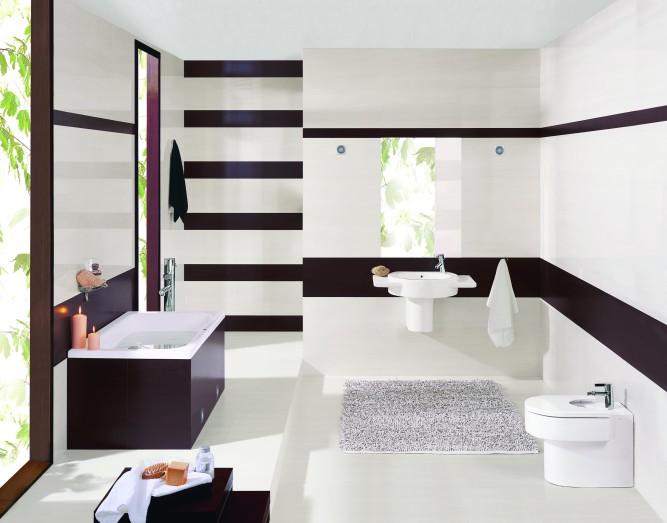 Альтернативная отделка ванной комнаты