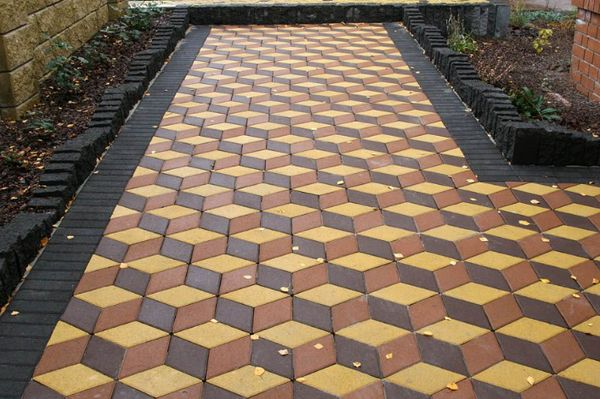 Тротуарная плитка ромбик