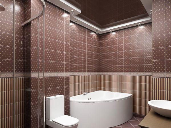 Керамическая плитка считается самым оптимальным и доступным материалом для ванной комнаты
