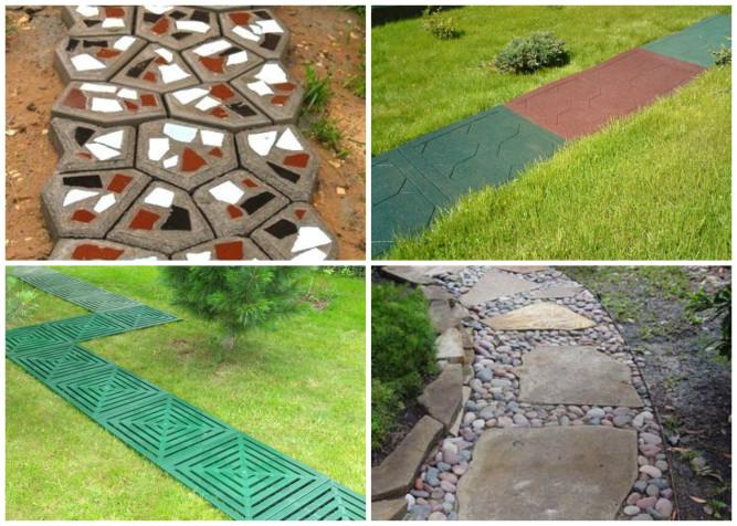 Виды материалов для садовых дорожек