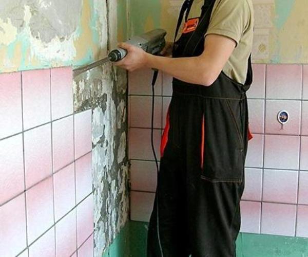 выравнивание стен ванной комнате