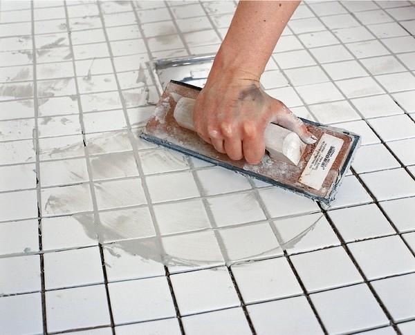 как использовать затирку для плитки